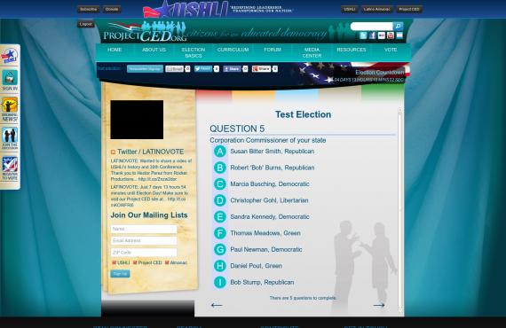 development of the custom wordpress plugin for a mock election screenshot 2