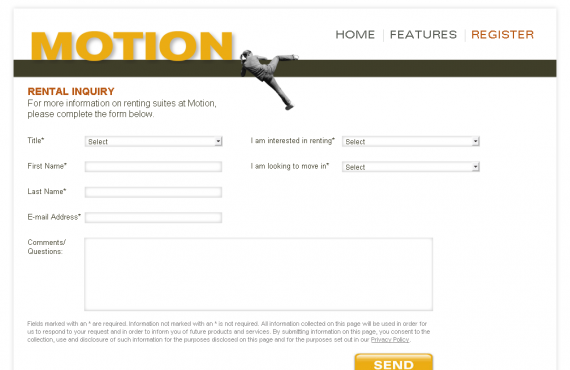 motion by concert: illustrator to html site + email template screenshot 2