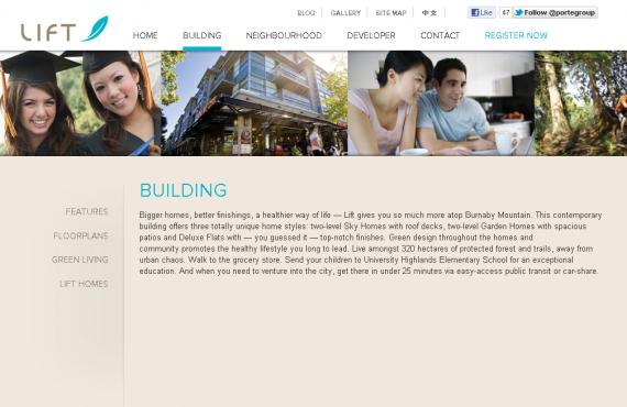 real estate website: psd to wordpress development screenshot 1