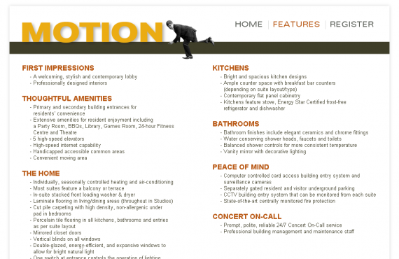motion by concert: illustrator to html site + email template screenshot 1