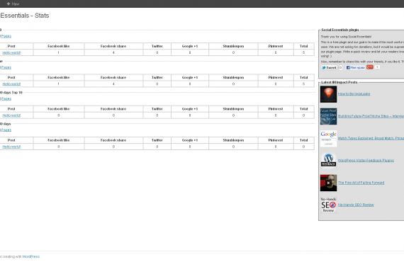 social essentials plugin screenshot 2