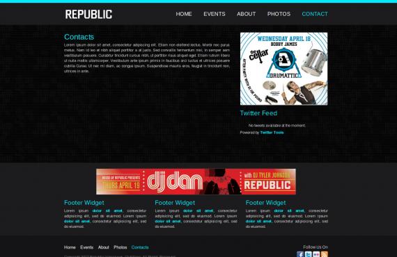 club builder. psd to wordpress screenshot 3