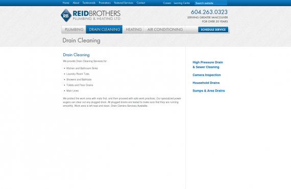 reid brothers. psd to wordpress development screenshot 1