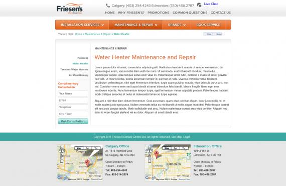 friesen's psd to wordpress development screenshot 2