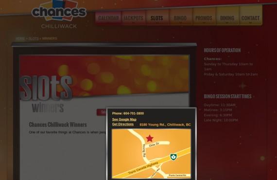 casino website. psd to wordpress development screenshot 1