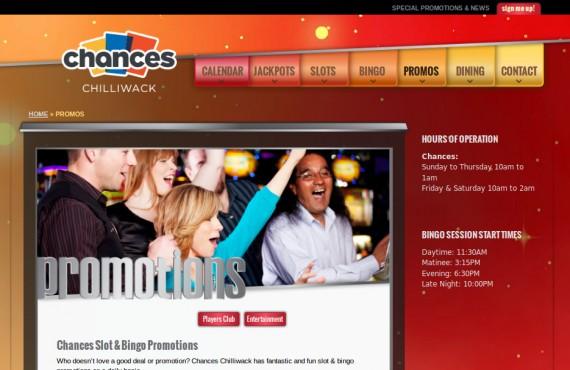 casino website. psd to wordpress development screenshot 2