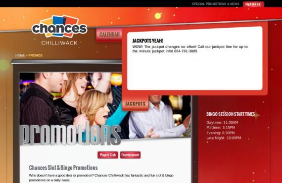 casino website. psd to wordpress development screenshot 3