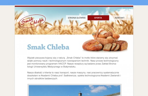 graphic design creation of the home pages for the bakery and shop screenshot 1
