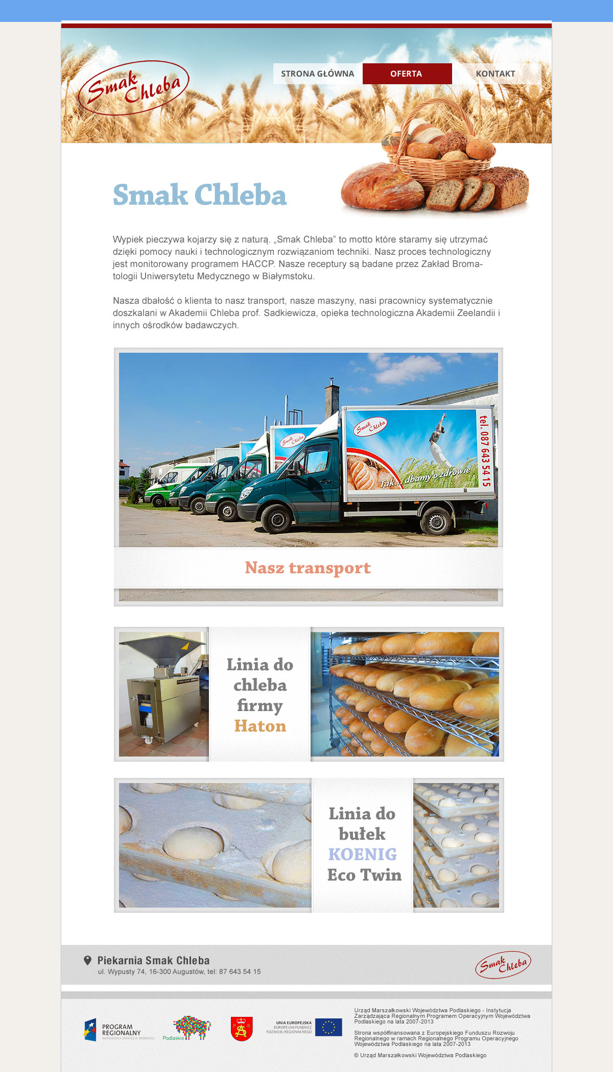 graphic design creation of the home pages for the bakery and shop screenshot 2