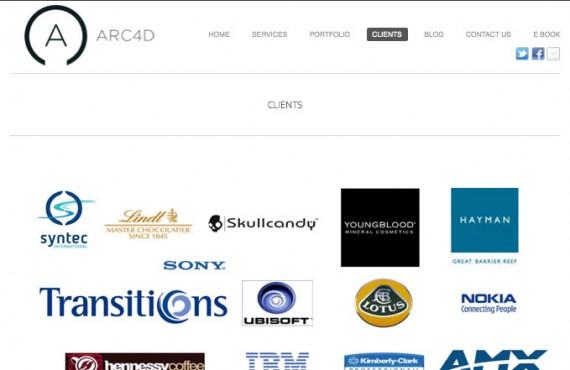arc4d website screenshot 1