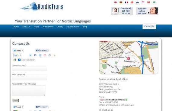 theme customization for international translation company screenshot 4