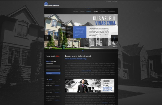 home page design for a real estate agent screenshot 1