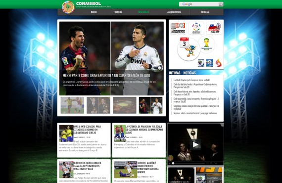 the improvement of the home page design of the football website screenshot 1
