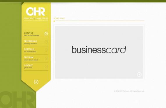 home page design screenshot 2