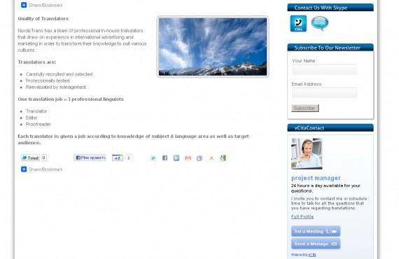 theme customization for international translation company screenshot 3