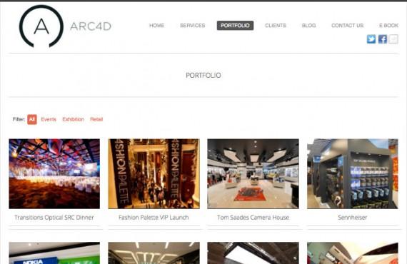arc4d website screenshot 3