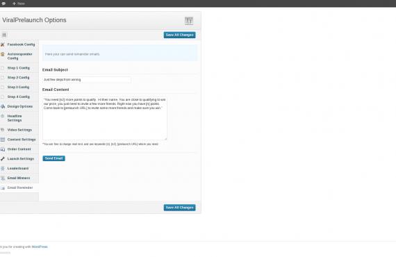 viralprelaunch wordpress plugin development screenshot 3