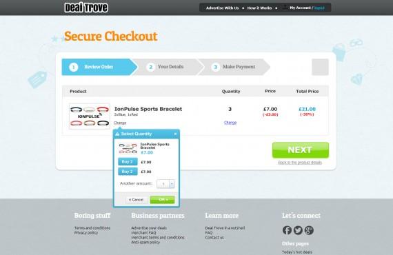 checkout process redesign screenshot 2