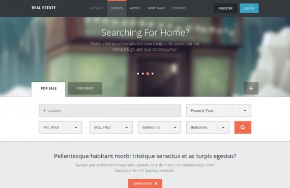real estate – creative psd template screenshot 1