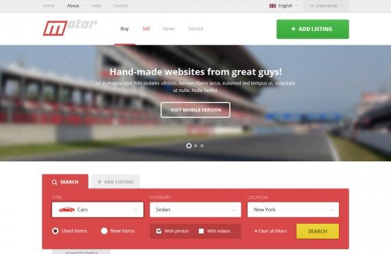 motor – vehicle marketplace psd template screenshot 3