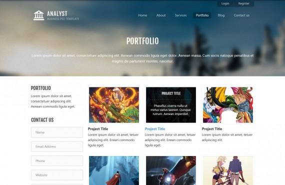 analyst – business & agency psd template screenshot 6