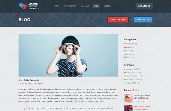 actority – psd template for casting agencies screenshot 5