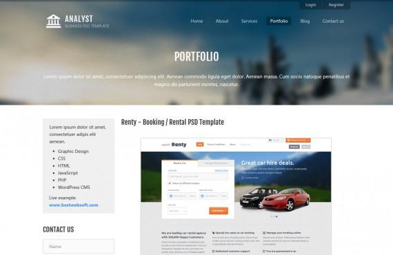 analyst – business & agency psd template screenshot 7