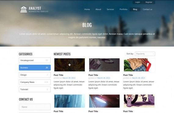 analyst – business & agency psd template screenshot 8