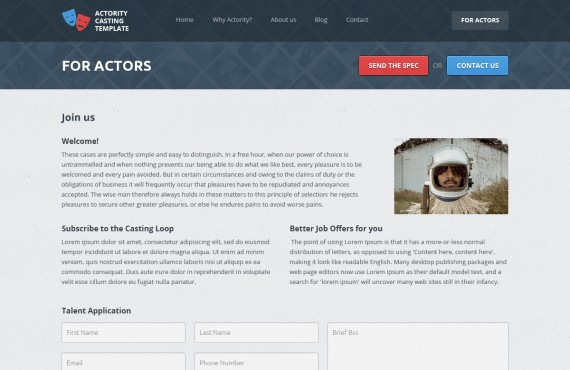 actority – psd template for casting agencies screenshot 7