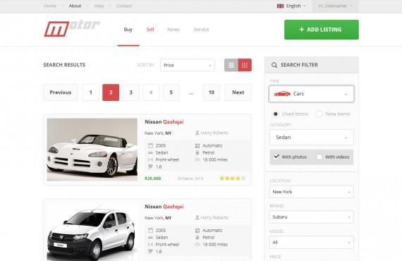 motor – vehicle marketplace psd template screenshot 7