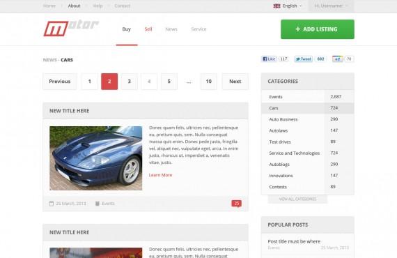 motor – vehicle marketplace psd template screenshot 9