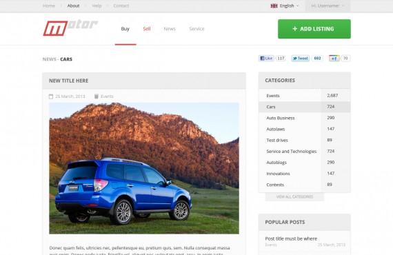 motor – vehicle marketplace psd template screenshot 10