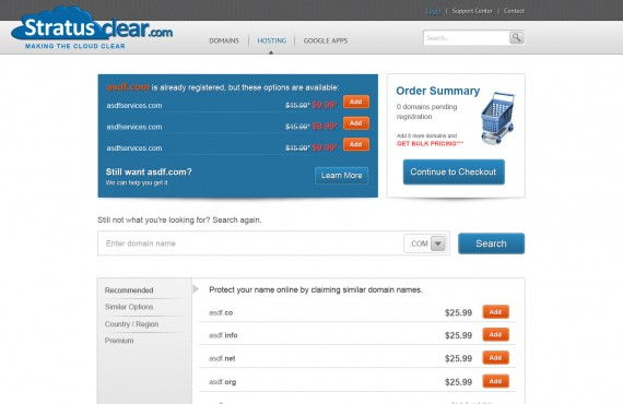 templates for the site of sale and registration of domain names screenshot 2