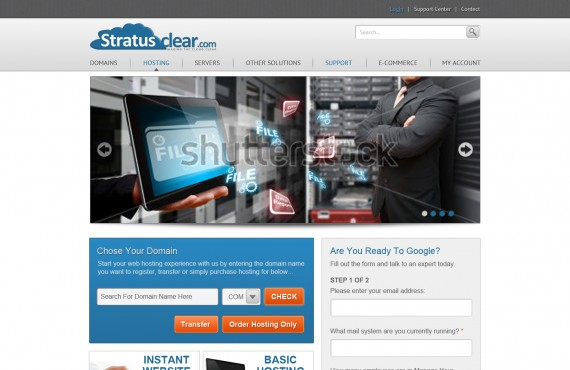 templates for the site of sale and registration of domain names screenshot 1