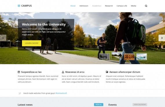 campus – university psd template screenshot 1