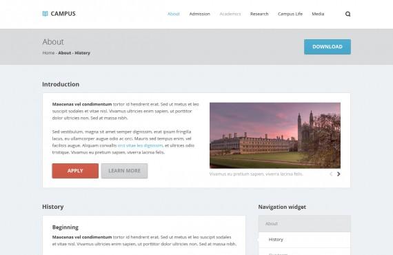 campus – university psd template screenshot 4
