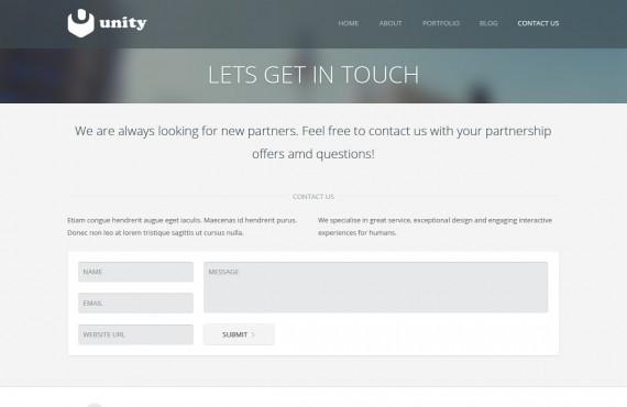 unity – multipurpose psd template screenshot 5