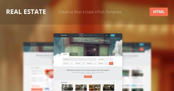 real estate – creative html template screenshot 1