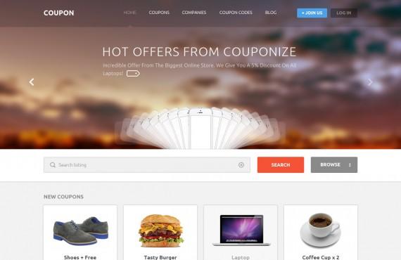 coupon – coupons and promo codes psd template screenshot 1