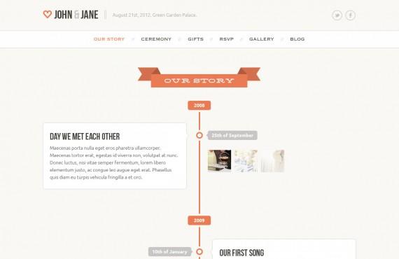 wedding – creative psd template screenshot 2