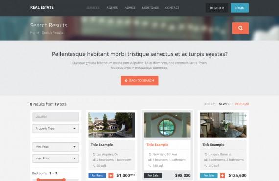 real estate – creative html template screenshot 3