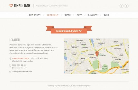 wedding – creative psd template screenshot 3