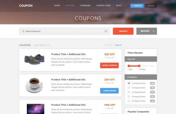 coupon – coupons and promo codes psd template screenshot 4