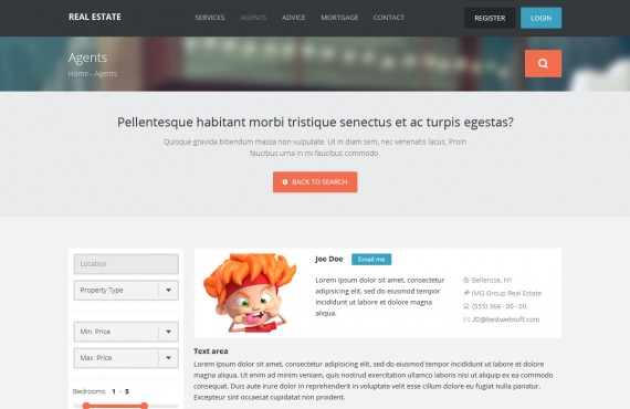 real estate – creative html template screenshot 6