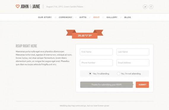 wedding – creative psd template screenshot 5