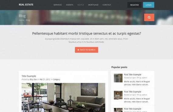 real estate – creative html template screenshot 7