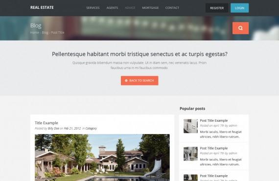 real estate – creative html template screenshot 8
