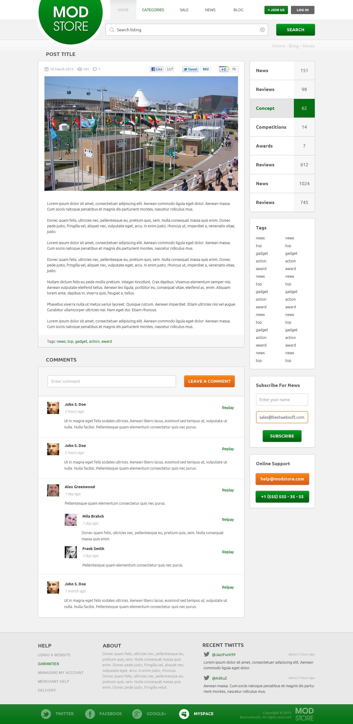 modstore – online shop psd template screenshot 5