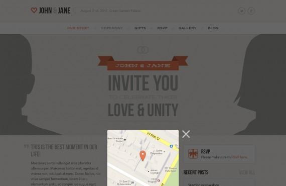 wedding – creative psd template screenshot 12