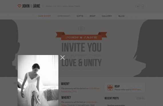 wedding – creative psd template screenshot 11